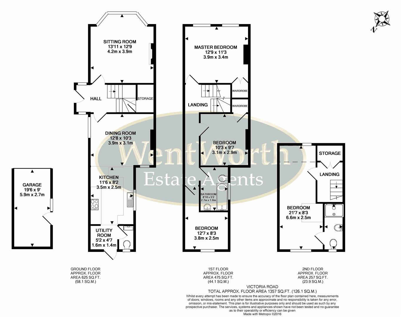 Victoria road wargrave reading 4 bed type unknown for Reading floor plans
