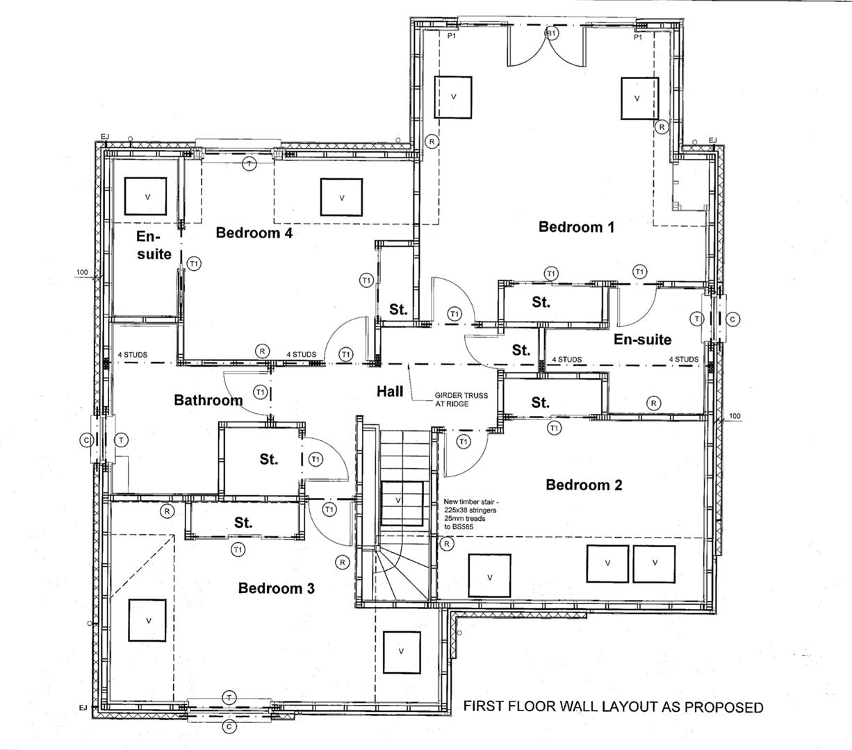 First Floor Wall Layout