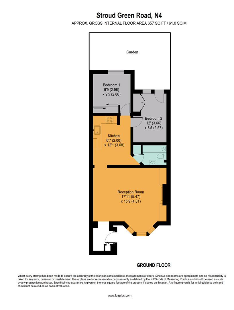 A picture of a floor plan currently for sale at Davies & Davies Estate Agents