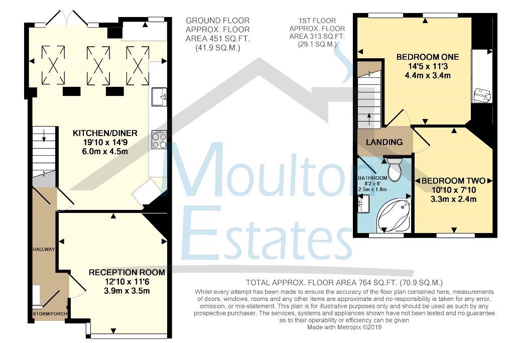 Floorplan - 2021 Format - Leyland Avenue - Moulton
